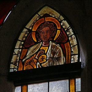 Glasmålningar i Barlingbo kyrka
