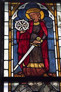 Glasmålningar i Lye kyrka