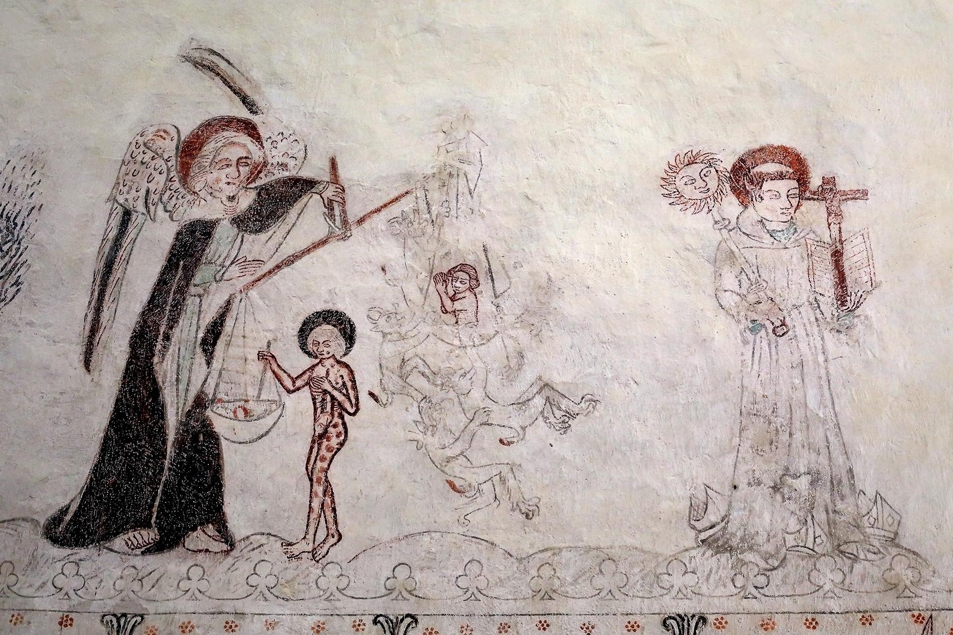 Sankt Bernhard själv, Sankt Lars och en flytande blodsrelik